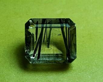 9.5 carat,Natural Beautiful top QUALITY  Quartz and Tourmaline 6*12*11 mm size Rutile Quartz.