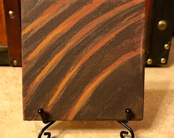 "Clawed // Mini 4""x4"" Canvas Painting // Acrylic on Canvas // Gothic Art // Shapeshifter"