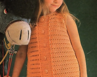 Girls Dress And Pants, Crochet Pattern. PDF Instant Download.