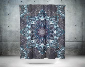 Mandala Shower Curtain,Boho Shower Curtain,Boho Decor,Hippie Shower Curtain,Bohemian Curtain,Bathroom Decor,Boho Chic,Shower Curtains