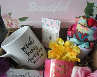 Birthday Gift Box Care Package You Are Beautiful Inspirational Mother Best Friend