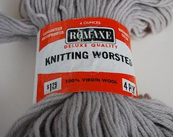 1 skein Romaxe knitting worsted  vintage wool