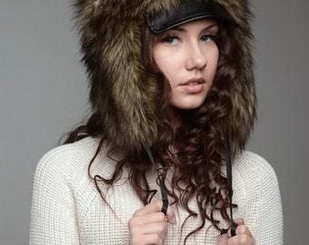 "Hat ""Hunter"", faux fur."