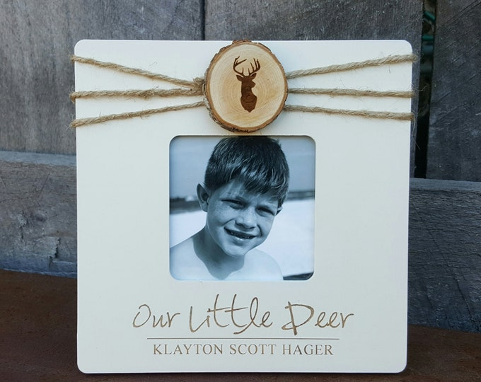 Our Little Deer - Baby Photo Frame - Deer Picture Frame - Ultrasound Picture Frame - Baby Gift