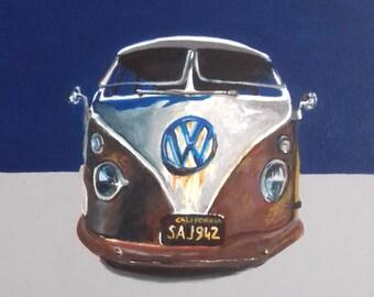 Painting Volkswagen van / Wall decoration