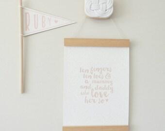 Magnetic Poster Hanger - Print Hanger