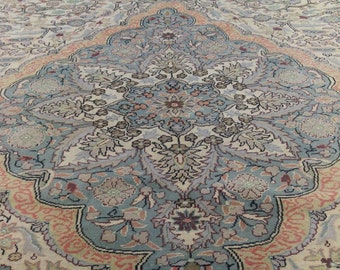 "Beautiful 1900-1939s Antique 6'6""x9'9"" Olive Green Legendary Hereke Carpet"