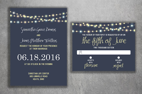 Bargain Wedding Invitations: Wedding Invitation Set Cheap Wedding Invitations Lights