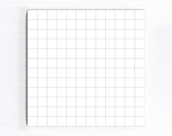 Graph Paper Notepad, Square Memo Pad, Small Desk Paper Pad, NON Sticky Notes, Daily Office Lists Grid, Handmade Gifts Under 5 or 10