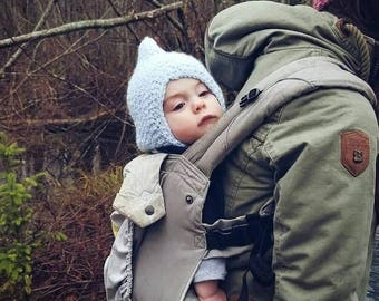 Newborn waldorf-style gnome hat