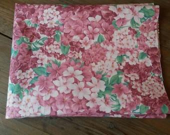 Floral fabric / pink hydrangeas