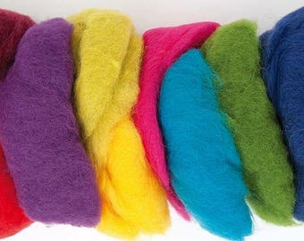 Wool 100% bright or pastel mix