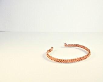 Gift for her Arm cuff Woven bracelet Copper jewelry woman bracelet. Boho jewelry ideas
