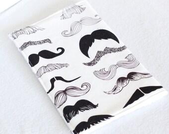 Mustache Burp Cloth, Baby Boy Burp Cloth, Modern Burp Cloth, Baby Mustaches, Black and White baby, Burp Cloth, Mustaches, Modern Baby Boy,