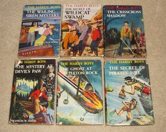 Lot of 6 Hardy Boys Books with Dust Jackets from the Early 1950s