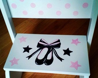 Personalized Ballerina Slippers Stepstool