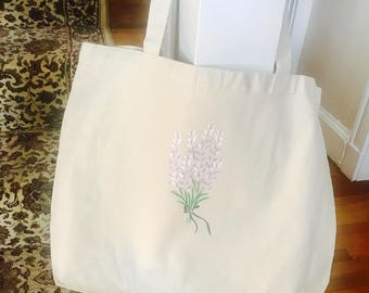 Large Canvas Lilac Tote