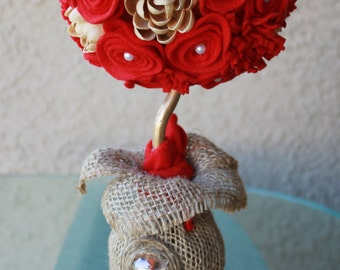 Red Handcrafted Centerpiece Decoration (Free Gift with this purchase!)