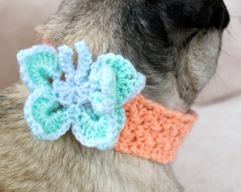 Butterfly Neck Warmer for Dogs /  Made To Order