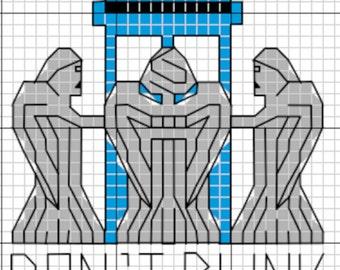 Doctor Who - Blink - Cross Stitch Pattern