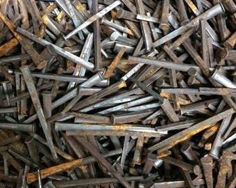 "Vintage Square head nails - 1-1/2"" length - (lot of 100pcs) - FREE SHIPPING!"