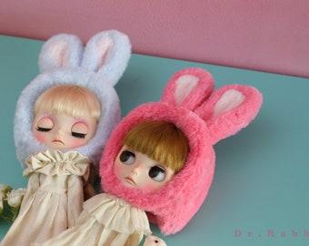 Blythe hat, Blythe helmet - Pink Rabbit