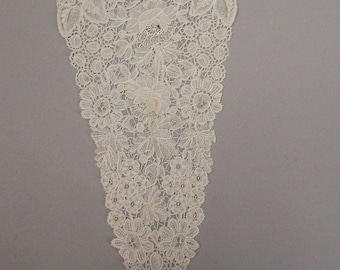 Antique Duchesse lace yoke Victorian era point de gaze inserts