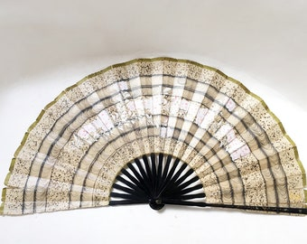 Large Wood and Paper Fan
