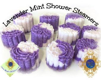 Lavender, Mint, Shower Steamer, Shower Bombs, Shower Cakes, Shower Aromatherapy, Shower Fizzy, Steamer