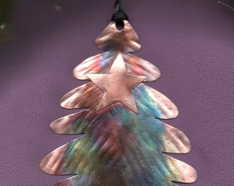 Handcrafted Copper Christmas Tree Ornament