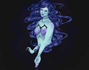 Sea Witch Halloween Art Print | Matte Finish