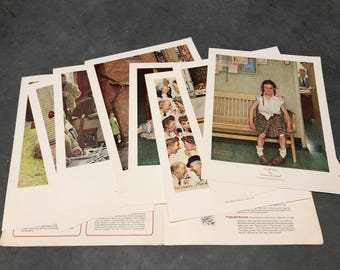 Norman Rockwell Prints Teaching with Rockwell's Americans Vintage Scholastic Magazine Saturday Evening Post