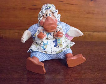 Russ Berrie The Country Folks Daphne Duck Figurine- Collectible w/ Tag