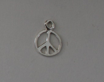 Sterling Silver PEACE Charms - Package of 10