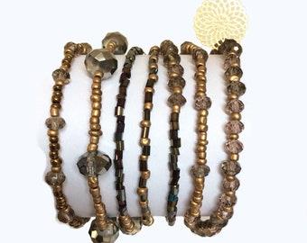 Wrap bracelet, Boho chic, Gift for her, Bohemian jewelry, Beaded bracelet, Gift for women, Bracelet femme, Jewelry, Handmade jewelry