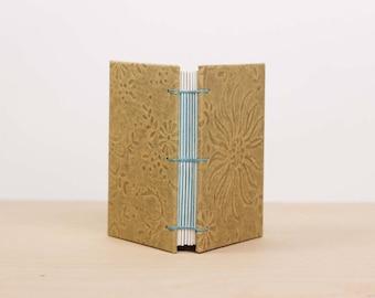 Small Sketchbook· Mini Notebook· Pocket Journal· Tan Notebook· Handmade Book· Lay Flat Notebook· Blank Notebook· A7· Watercolor Sketchbook