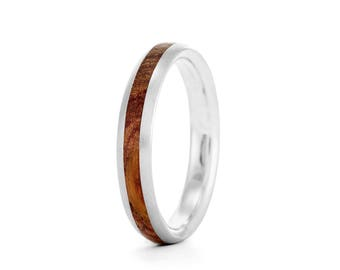 Native Oval, 4mm - wood rings UK
