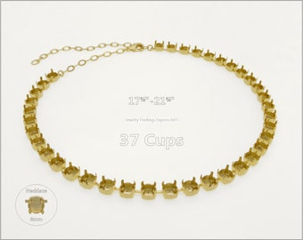 1 pc.+ 37 Cups, SS39 (8mm) Empty Cup Chain for Necklace - Gold color