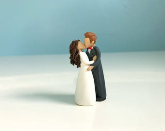 Wedding Cake Topper - Bride and Groom Figurine - Wedding Day Gift