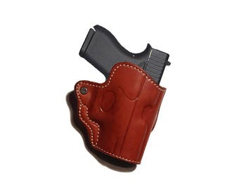 Mini Scabbard Leather Belt Holster Glock 43 Right Hand