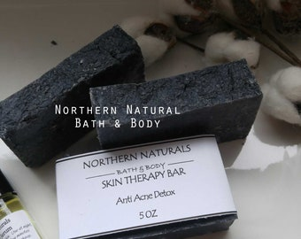 Anti Acne Soap,  Detox Soap, Charcoal Soap, Activated Charcoal Soap, Natural Detox Soap, Vegan Soap,, All Natural Skincare