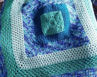Crochet Sea Glass Throw