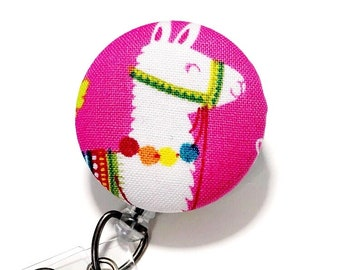 Llama Badge reel Retractable Badge Reel ID Badge Holder Name Badge Clip Badge Pull Nurse Badge Reel Retractable Badge Holder