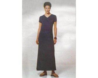 Easy Knit Dress in 2 Lengths or Tunic and Skirt 1990s Vogue Sewing Pattern 2299 Size 8 to 12 Bust 31.5 to 34