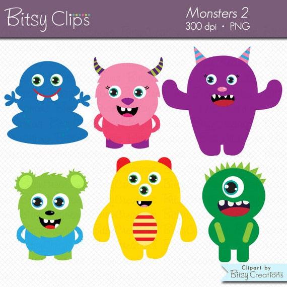 cute monsters clipart digital art set commercial use clip art rh etsystudio com monsters clipart png monster clip art black and white