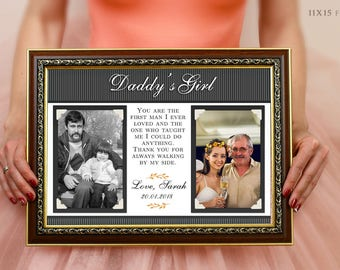 Gift For Fathers Day Dad Daddy From Daughter Picture Frame 'i Loved Her First I Held Her First' Father's Day Gift For Husband