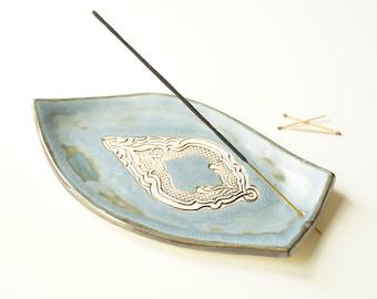 Large Incense Holder, Incense Stick Burner, Incense Tray, Ceramics and Pottery, Ash Catcher, Ceramic Plate, Meditation, Yoga, Aromatherapy