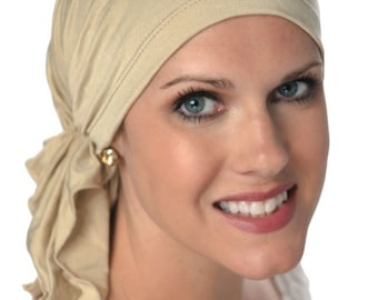 Slip-On™ Scarf | Pre-Tied Head Scarves for Women | Cancer Scarves | Chemo Scarfs | Scarf for Cancer Patient | Tichel | Head Covering Scarf
