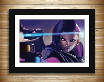 """Sombra the Hacker, Overwatch 12"""" x 18"""" High Quality Poster Print"""