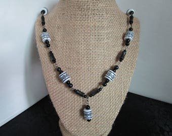 Assorted Black Beaded Necklace